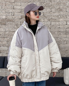Loose cotton coat students jacket for women