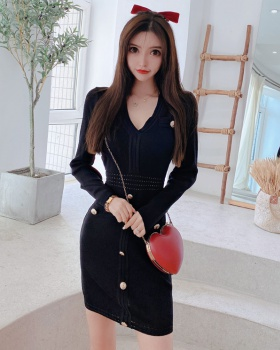 Package hip long sleeve long autumn dress for women