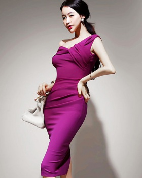Autumn and winter package hip dress slim formal dress