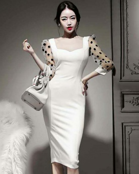 Korean style retro temperament dress for women