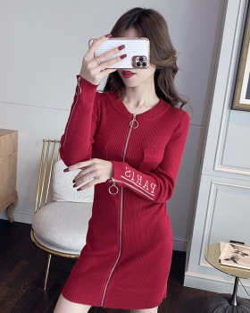 Sexy autumn and winter slim bottoming package hip dress