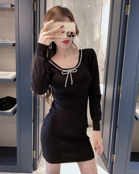 Temperament Korean style T-back slim dress for women