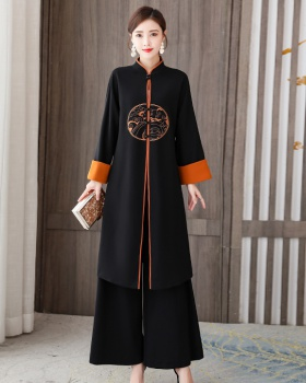 Chinese style overcoat national style pants a set