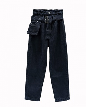 Retro jeans radish harem pants for women