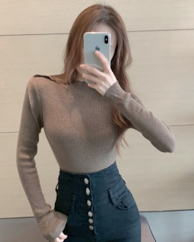 Temperament autumn slim lotus leaf edges sweater
