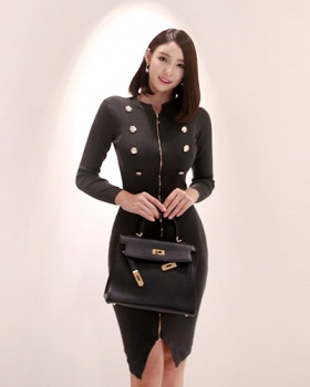 Package hip long temperament autumn and winter dress for women