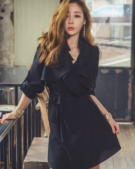 Fashion dress spring and autumn windbreaker for women
