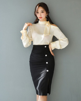 Fashion slim skirt high waist Korean style shirt