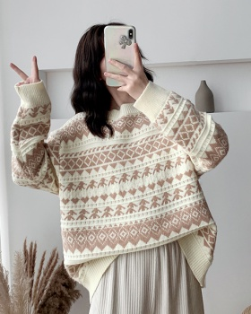 Loose autumn tops all-match pullover sweater