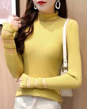 Slim sweater long sleeve bottoming shirt for women