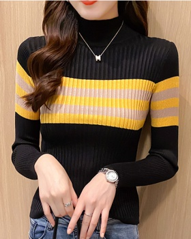 Inside the ride mixed colors sweater stripe tops for women