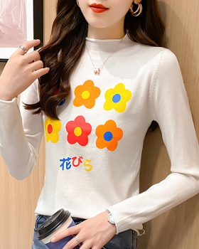 Half high collar sweater bottoming shirt for women