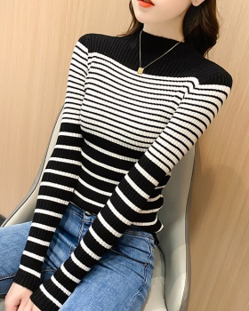 Inside the ride stripe tops mixed colors sweater
