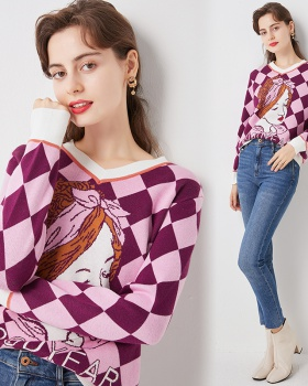 Lovely jacquard thick autumn and winter retro sweater