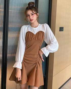Slim knitted personality France style sexy dress for women
