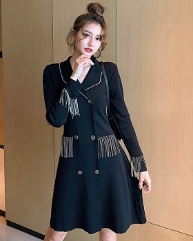 British style loose autumn Korean style knitted dress