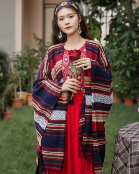 Travel thick knitted shawl autumn and winter thermal coat