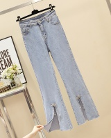 Autumn large yard all-match denim elasticity long pants for women