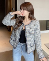 Retro short jacket France style woolen coat for women