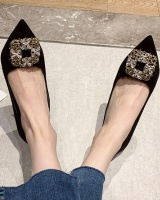 Pointed high-heeled shoes rhinestone shoes for women