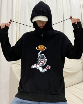 Loose basketball handsome coat hip-hop hooded tops for men