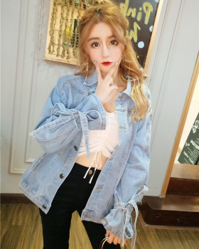 Retro denim coat student Korean style jacket