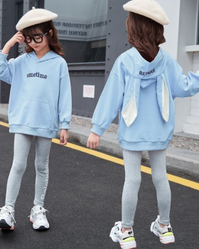 Girl lovely kids sports spring and autumn hoodie 2pcs set