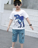 Summer short sleeve Casual boy kids 2pcs set