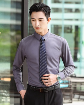 Long sleeve gray shirt cotton business suit for women