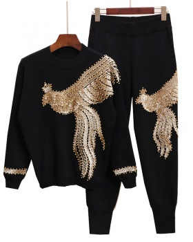 European style long pants sweater a set for women