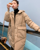 Loose fat winter cotton coat large yard long student coat