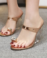 European style high-heeled shoes slipsole  for women
