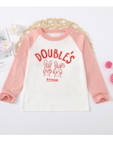 Pure cotton long sleeve kids girl bottoming shirt