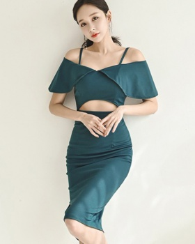 Summer sexy sling dress bottoming Korean style long dress