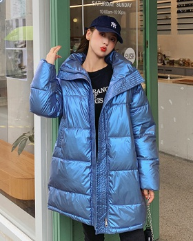 Korean style winter cotton coat glossy bread clothing