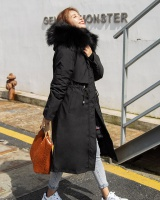 Loose long cotton coat liner winter coat for women