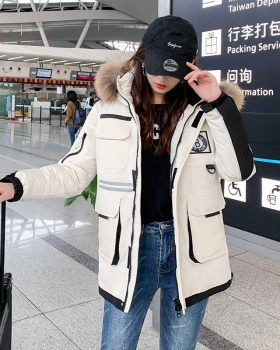 Student loose cotton coat winter long coat for women
