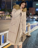 Down loose Korean style cotton coat thick long winter coat