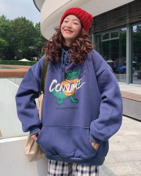 Korean style Japanese style lazy coat thick loose hoodie