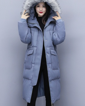 Thermal thick loose cotton coat for women