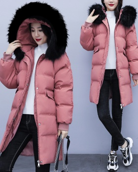 Loose thick Western style winter cotton coat for women