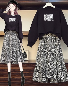 Pullover hoodie Western style skirt 2pcs set
