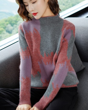 Long sleeve short bottoming shirt loose sweater for women