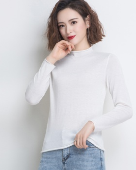 Fashion sweater long sleeve bottoming shirt for women