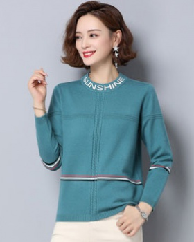 Mixed colors sweater knitted tops for women