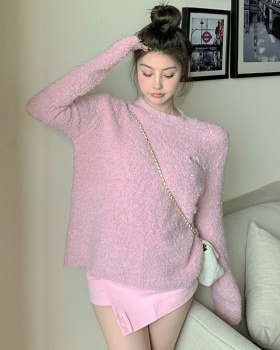 Autumn and winter peach wears outside sweater for women
