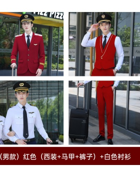 Long school uniforms student business suit 4pcs set for men