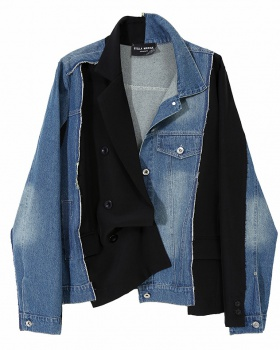 Fashion denim jacket Korean style coat for women