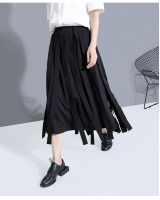 High waist all-match streamer fashion skirt