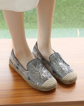 Cozy autumn and winter Bohemian style low shoes